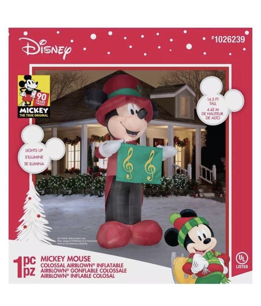 Gemmy Christmas Inflatables 2019.Details About New Gemmy Disney 14 5 Ft Lighted Caroling