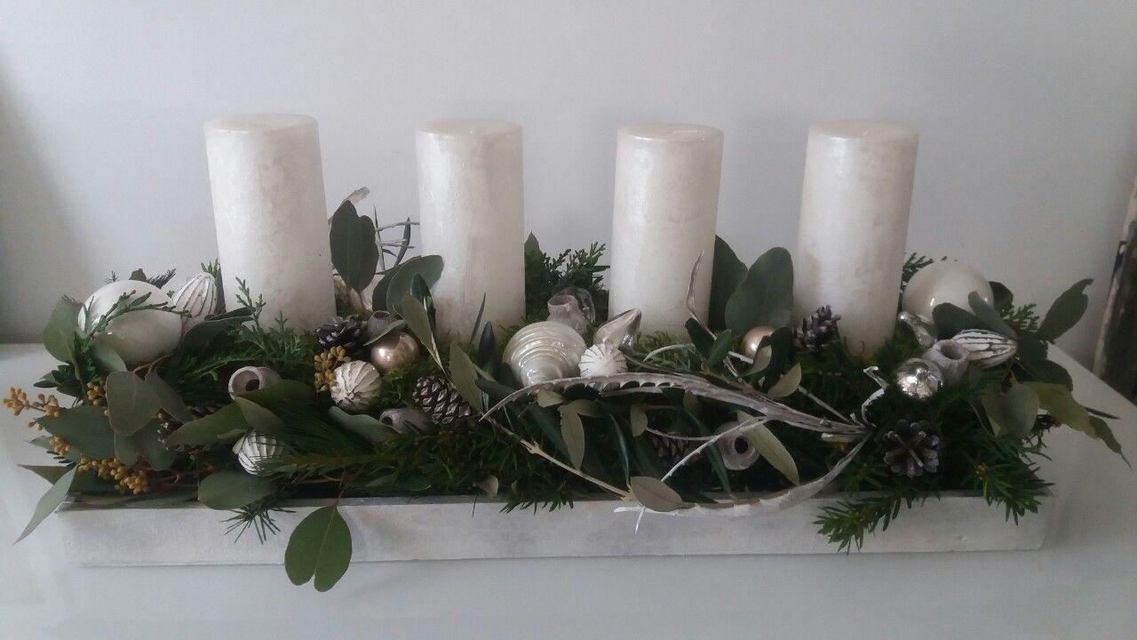 adventsgesteck l nglich wei deko weihnachten advent. Black Bedroom Furniture Sets. Home Design Ideas