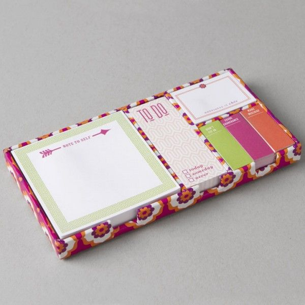 Jonathan Adler Retro Fl Sticky Note Set Urban Office Stylish Supplies