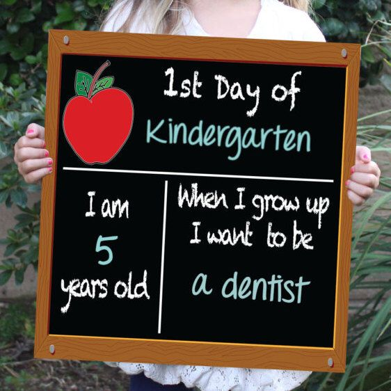 First day of school and Birthday reusable chalkboard sign~ NEW - double first
