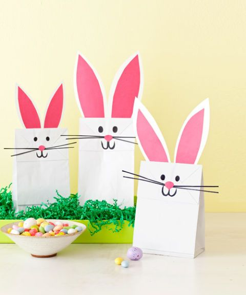 Easter Paper Crafts Quick Crafts Construction Paper And Lunch Bags