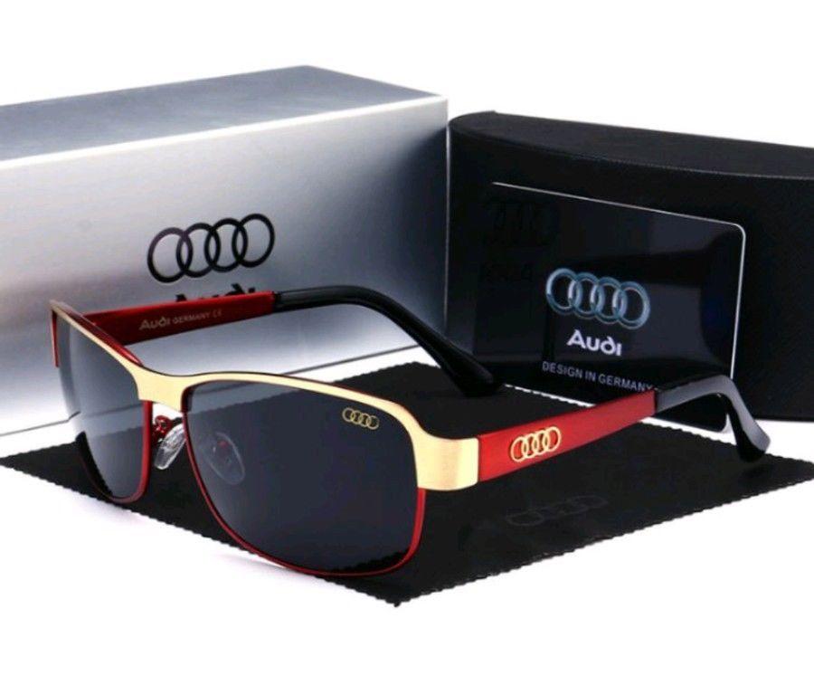 9d03aab23e gafas de sol hombre audi gold line desig Conducción protec UV400 polarizadas  red