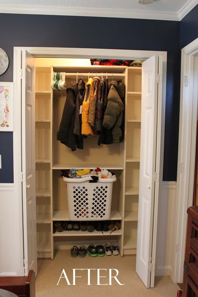 Charming Billy Bookcase Closet Organizer Part - 7: Southern Revivals: Our Under $100 Closet System - IKEA Hack