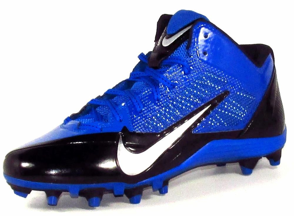 7982b2237634 Nike Alpha Pro 3 4 TD Molded Football Lacrosse Cleats Blue Black Silver   Nike  34MoldedTDFootballLacrosseCleats