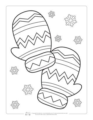 Mittens Coloring Page For Kids Preschool Coloring Pages Coloring Pages Winter Free Coloring Pages