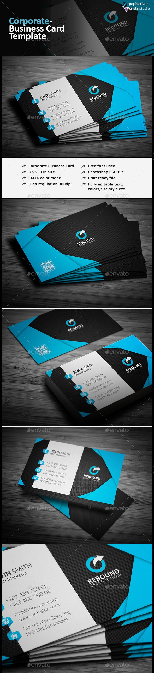 Creative Business Card | Business cards, Text color and Corporate ...