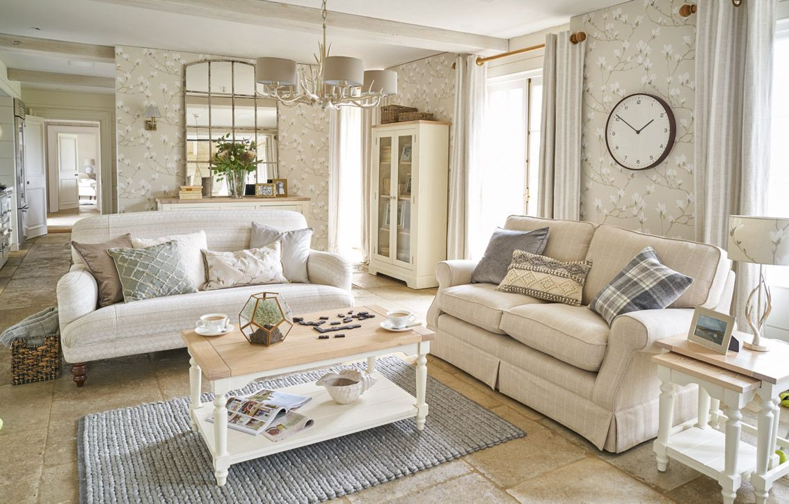 Magnolia Grove Natural Wallpaper Lauraashleyhome Living Room Furniture Home French
