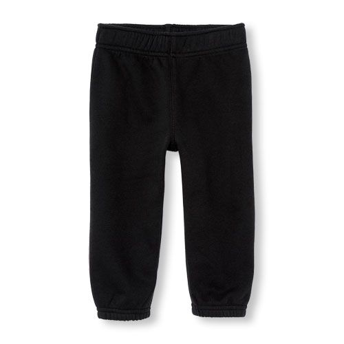The Childrens Place Baby Boys Solid Microfleece Pants