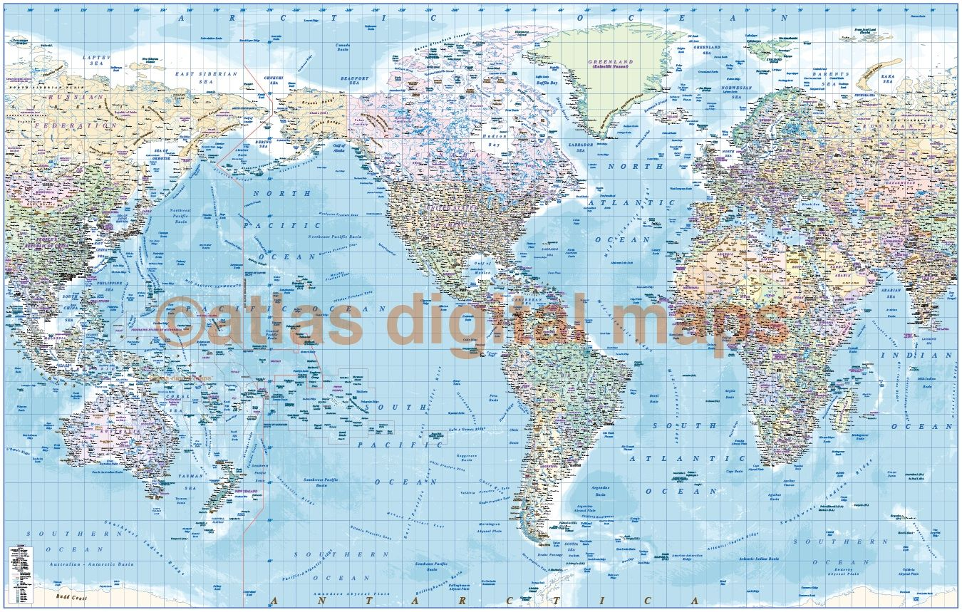 Pacific centric political world map in pastel colours world map pacific centric political world map in pastel colours gumiabroncs Choice Image