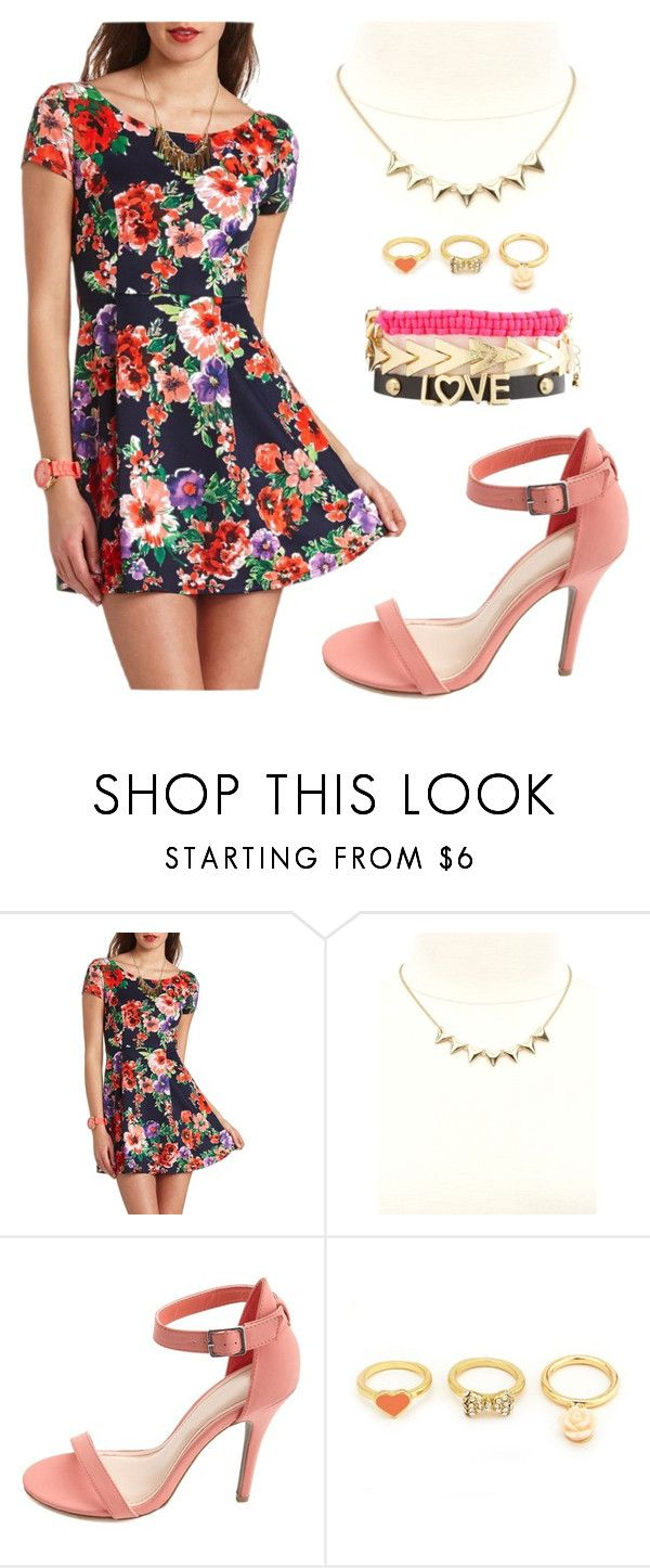"""""""Pretty in Floral"""" by charlotterusse ❤ liked on Polyvore featuring Charlotte Russe"""