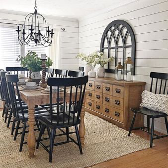 55 Splendid Farmhouse Design Ideas For Dining Room #farmhousediningroom