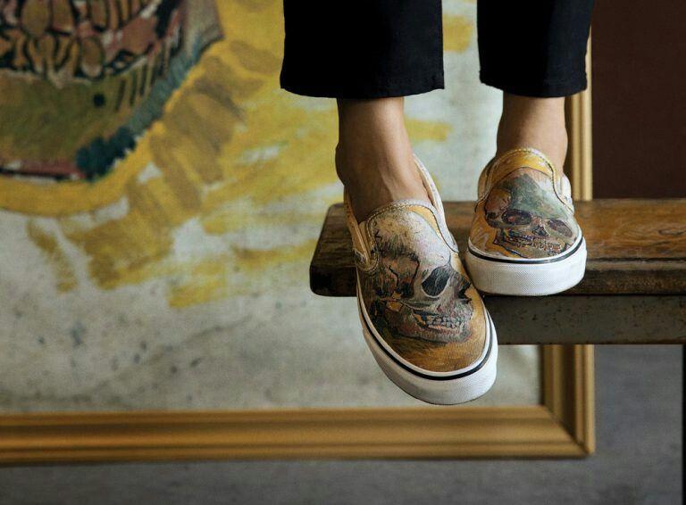 Vans X Van Gogh Museum Collection Custom Vans Shoes Outfit Shoes Vans Slip On
