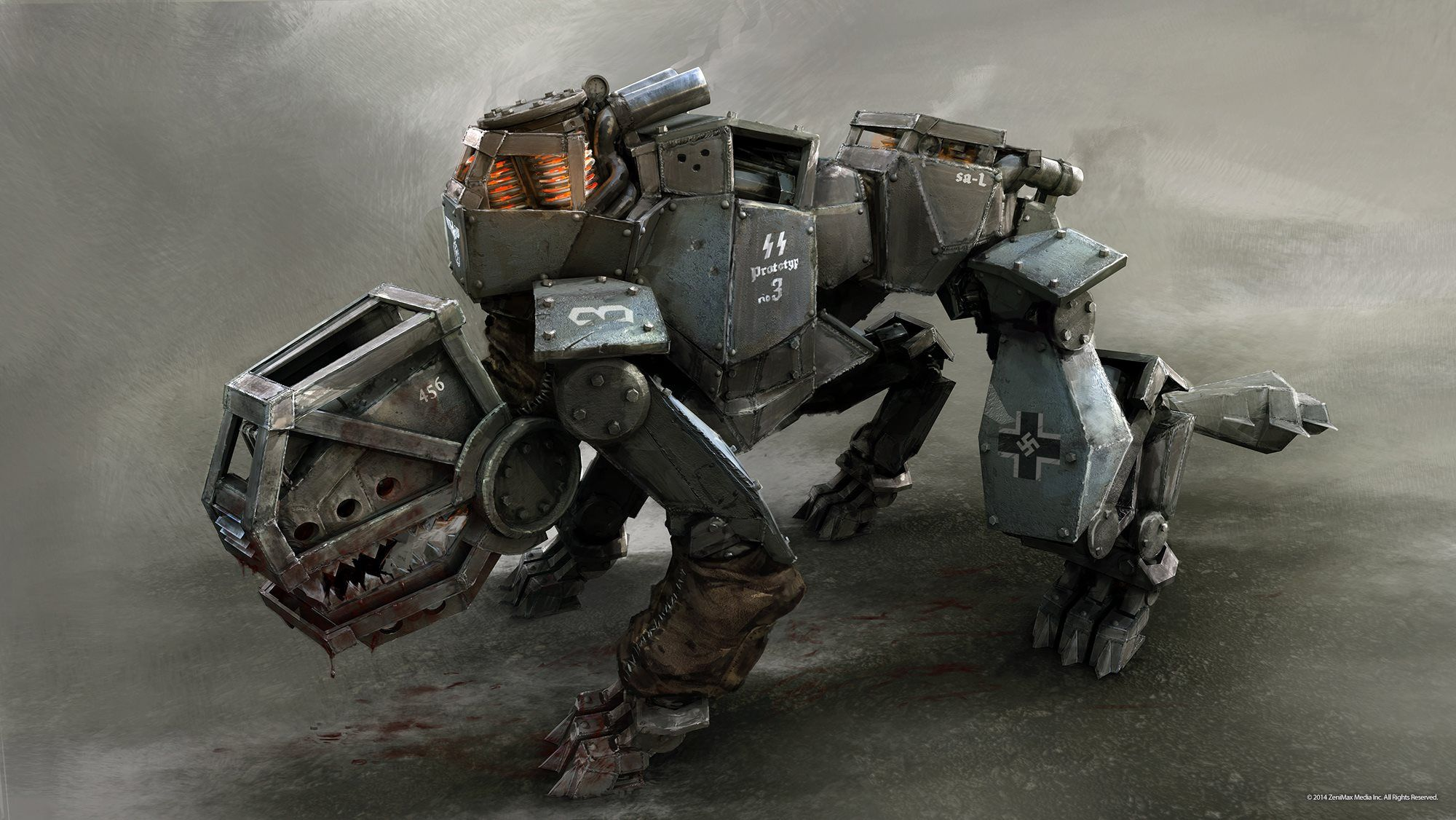 Wolfenstein: The New Order artworks illustrate mechanical beast ...