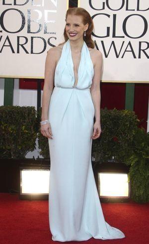 Jessica Chastain Golden Globe Awards Los Angeles Jan 2013