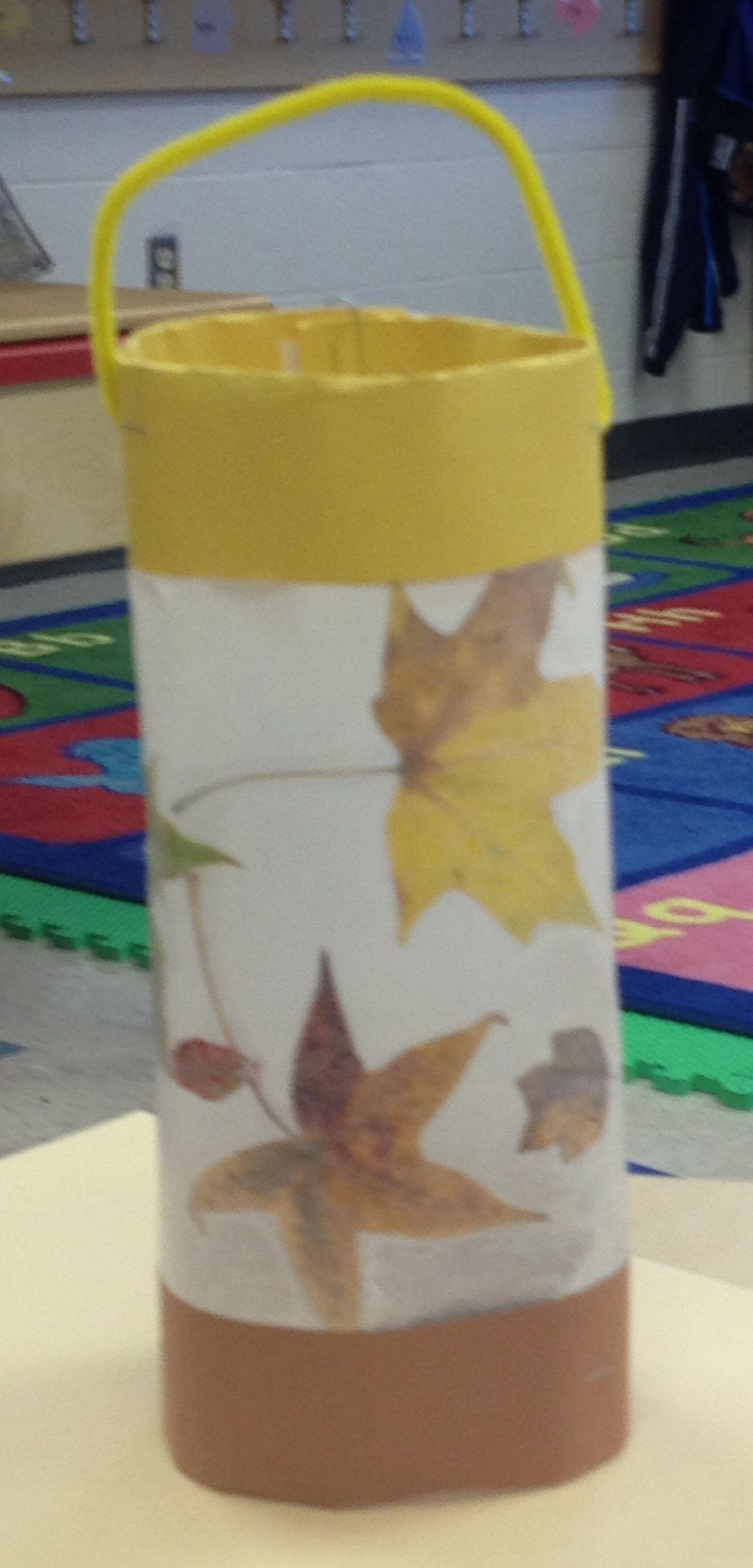 Preschool Leaf Lantern You Need Leaves Wax Paper Iron