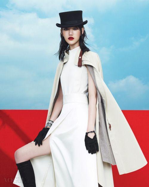 Choi Sora by Kim Young Jun for Vogue Korea Aug 2015