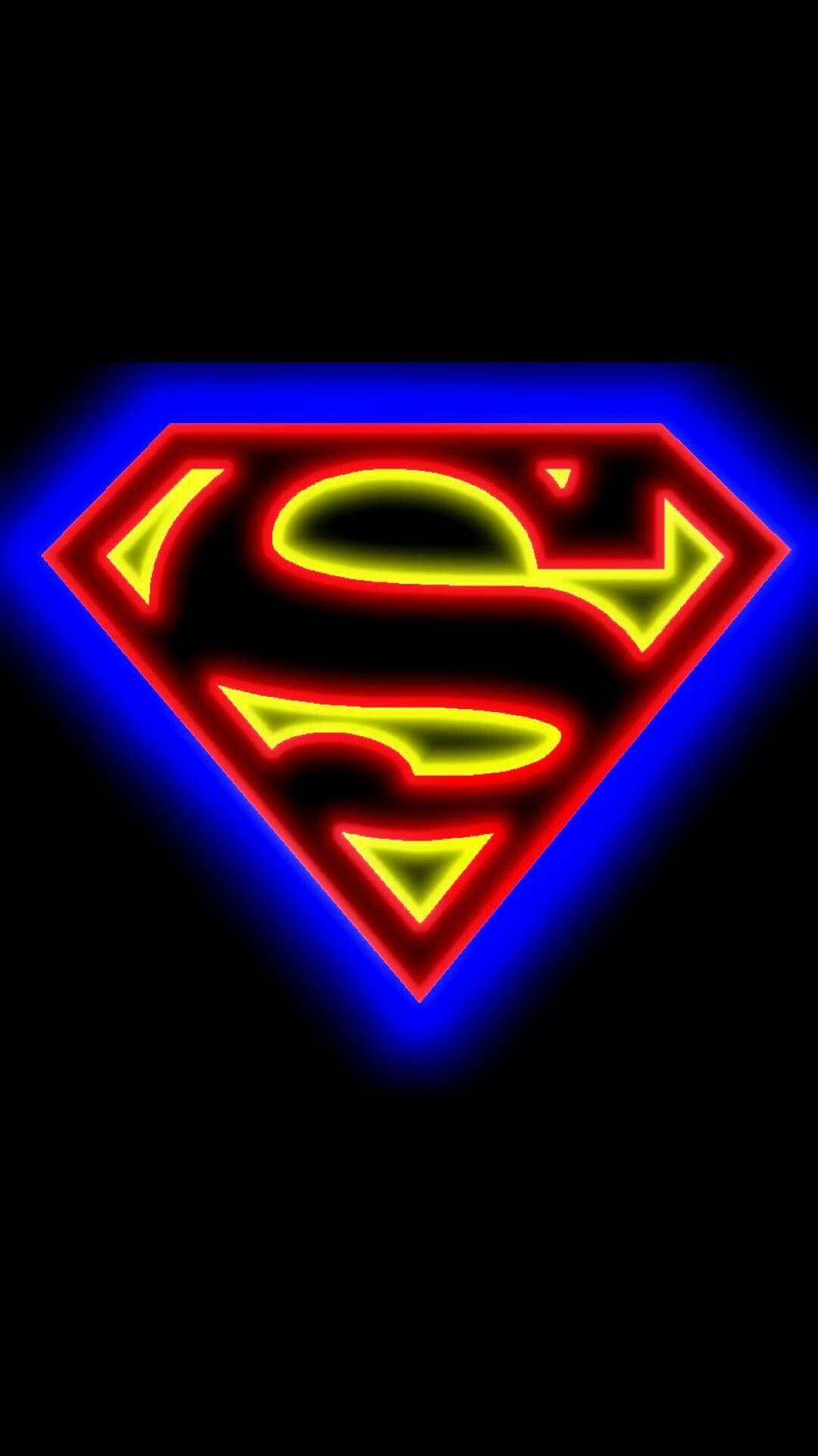 Neon Superman Logo Wallpaper Superman Wallpaper Logo Superhero