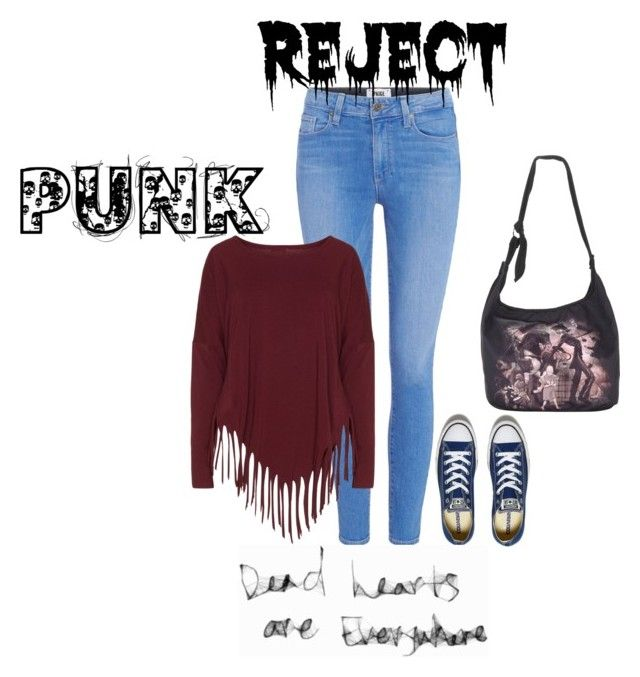 """Look#48"" by aninha-136 ❤ liked on Polyvore featuring Paige Denim, Boris and Converse"