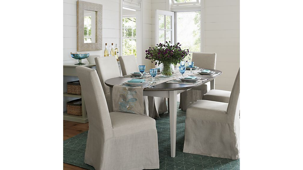 pranzo vamelie oval extension dining table crate and barrel rh pinterest com