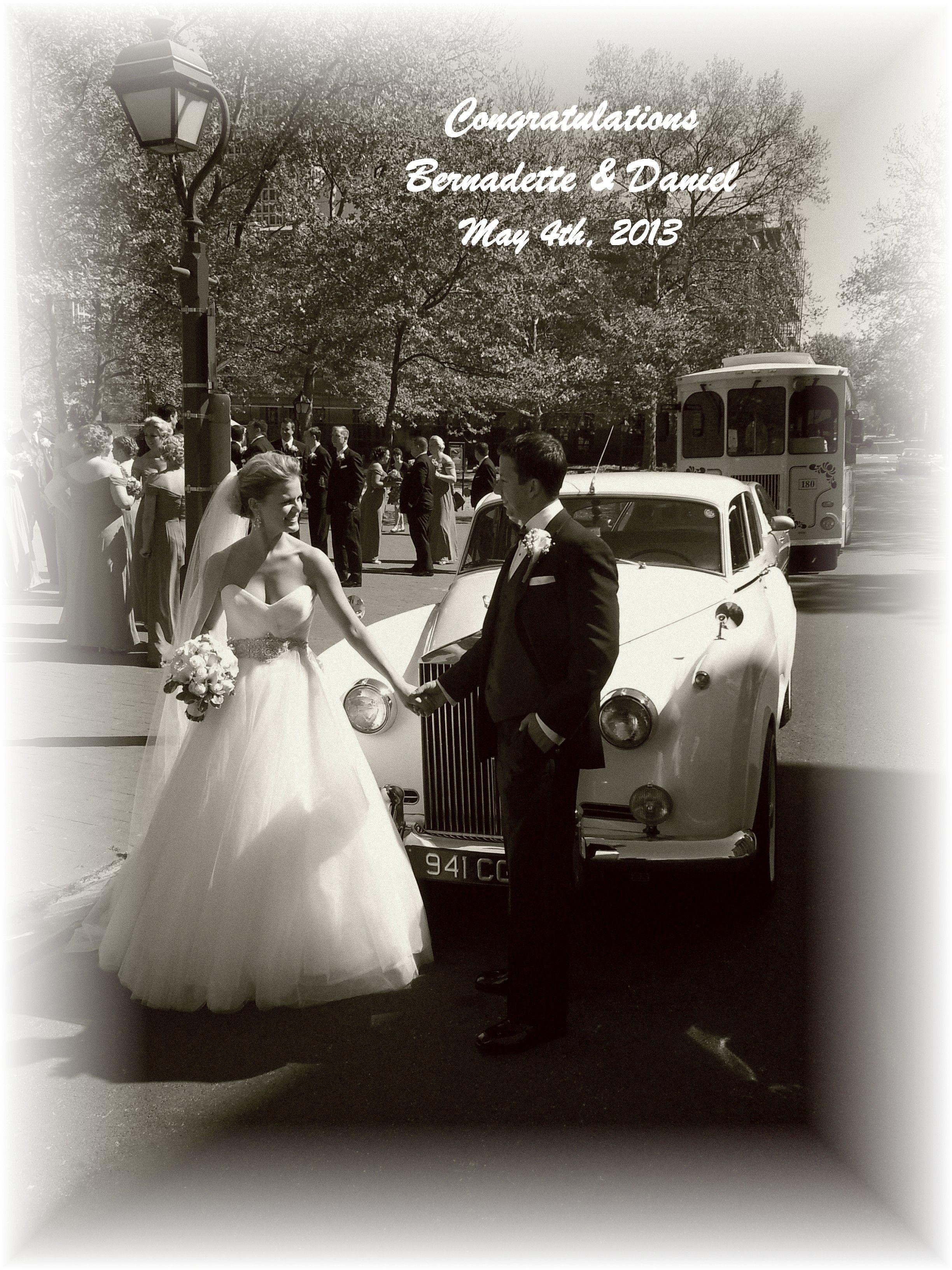Beautiful Vintage Photo!!! Wedding transportation, Rolls