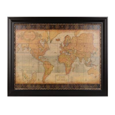 Ornate old world map framed art print map frame spare bedroom old world map framed art print kirklands gumiabroncs Gallery