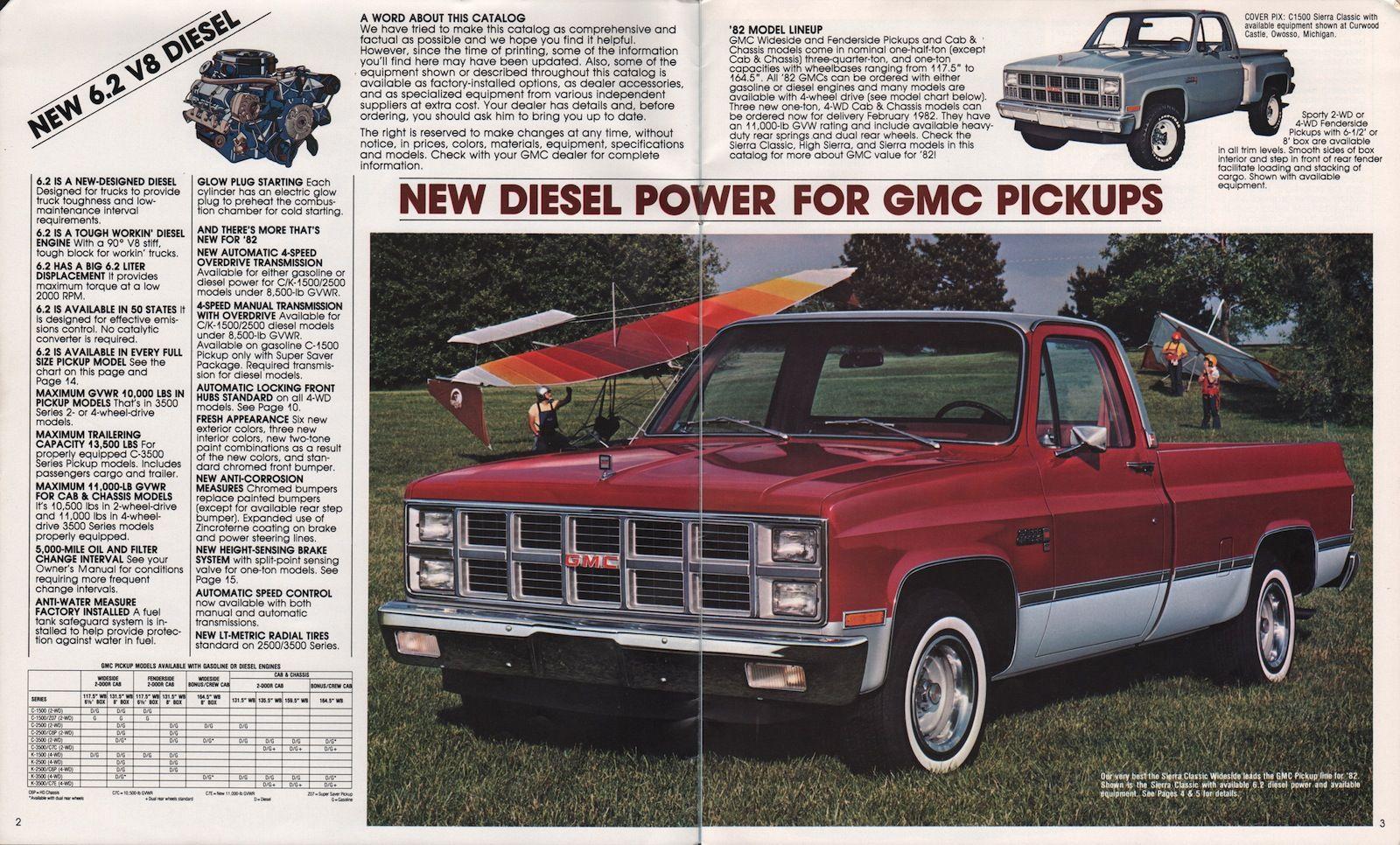 1982 Sierra Classic Wideside Gmc Pickup Gmc Gmc Diesel