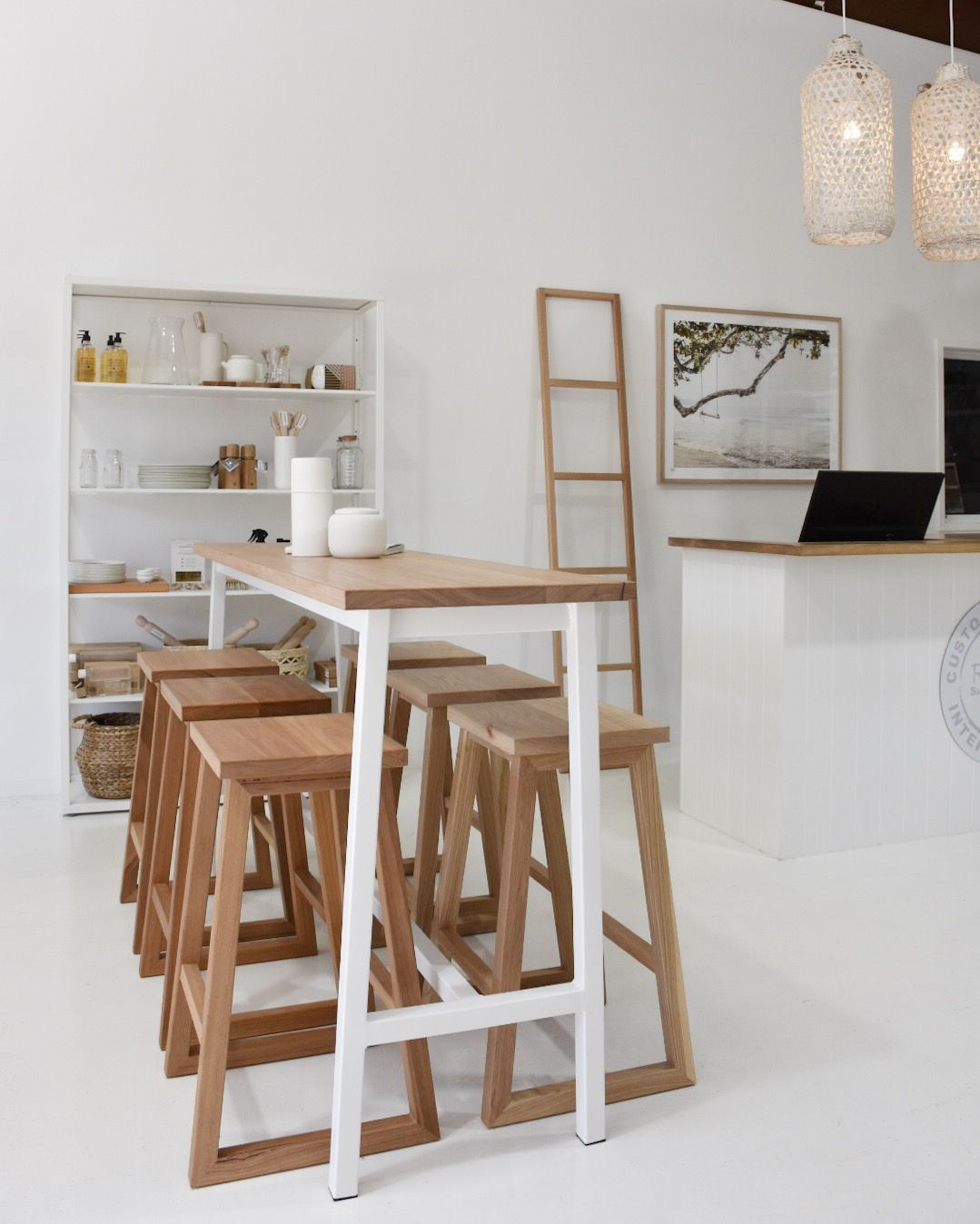 Our sunny bar table ideal for queensland living pictured