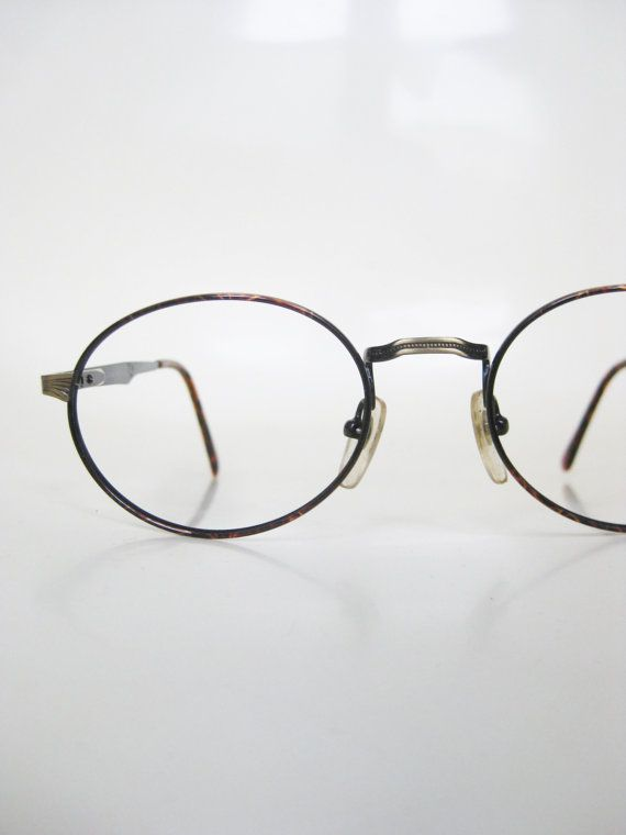 38b9e5e5b 1980s Metallic Tortoiseshell Wire Rim Eyeglasses Glasses Bronze Brown  Floral Filligree Fancy Girly 80s Deadstock Eyewear NOS New Old Stock