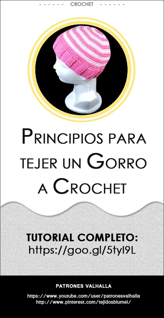 Principios para tejer un #Gorro a #Crochet   #PatronesValhalla ...