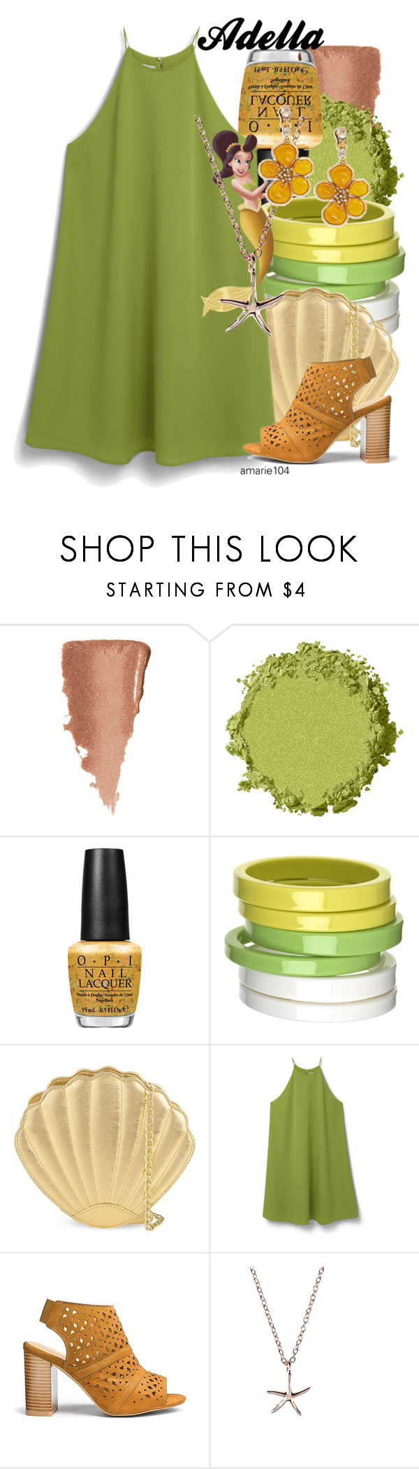 """Adella"" by amarie104 ❤ liked on Polyvore featuring OPI, By Malene Birger, Skinnydip, MANGO, Latelita and Oscar de la Renta"