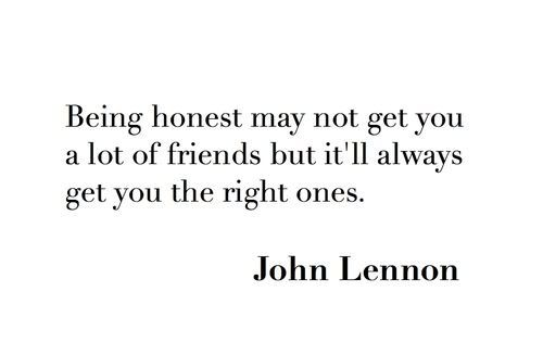 Real friends and honesty | Friendship Quotes | Quotes, Words