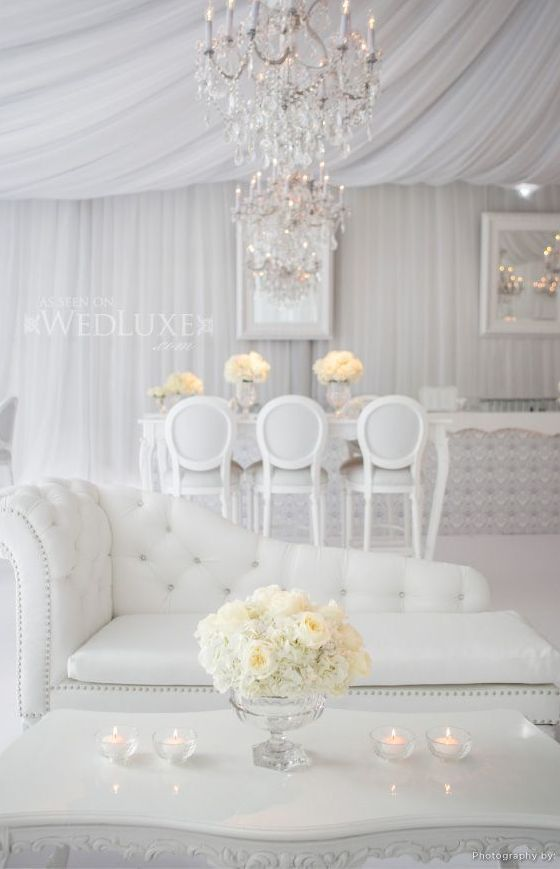 Luxe marquee wedding with cohesive one tone