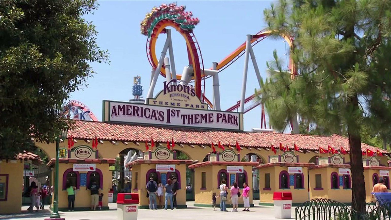 The Entrance To Knott S Berry Farm Theme Park In Buena Park Is