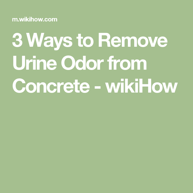 Remove Urine Odor from Concrete | housekeeping | Superstars