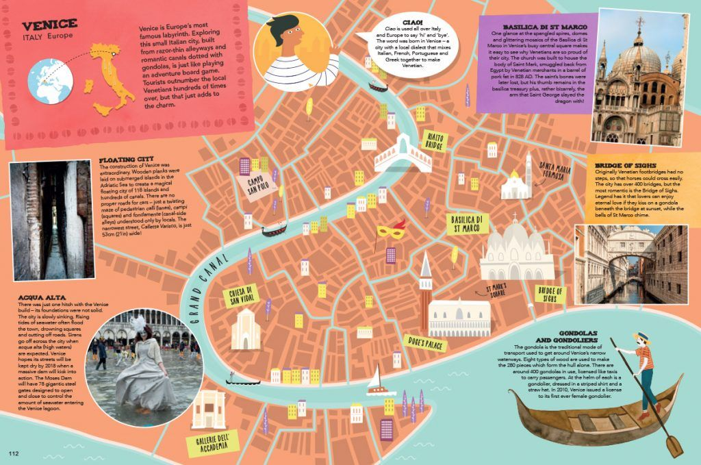 Venice map Venice map Illustrated Maps