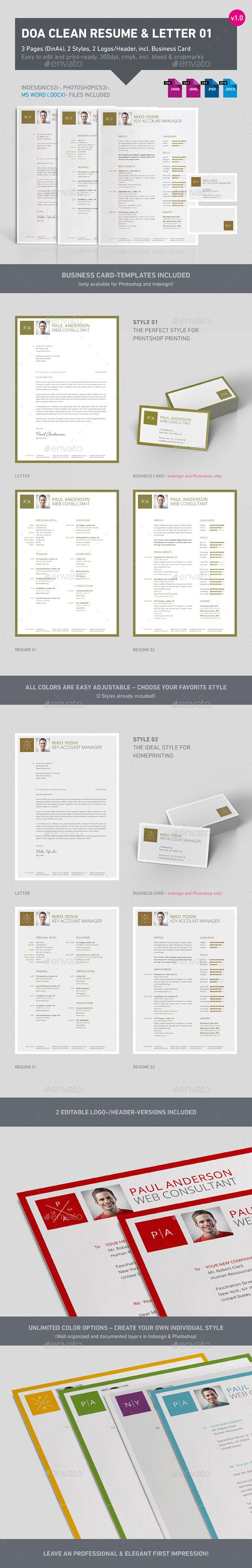 Clean 3 Part Resume 01 Resumes Stationery