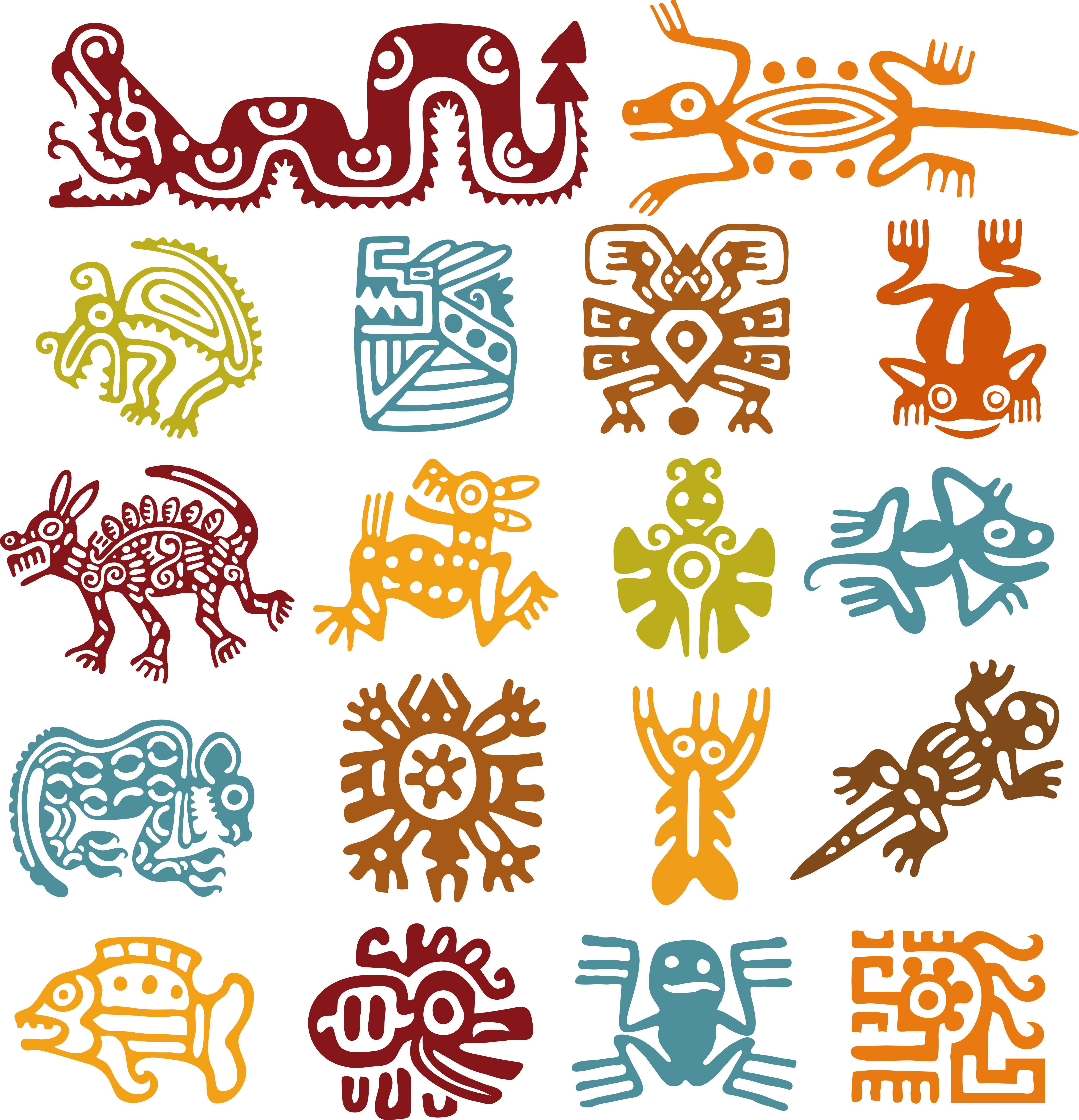 Pin by inna b eva on colors patterns shapes pinterest color illustration of set mexican symbols vector art clipart and stock vectors biocorpaavc Gallery