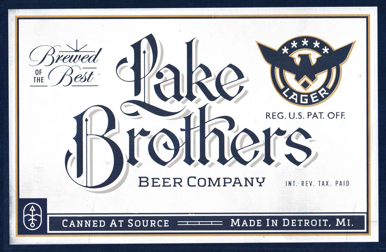 Lake Brothers Beer — ri¢ky! Logo inspiration, Beer