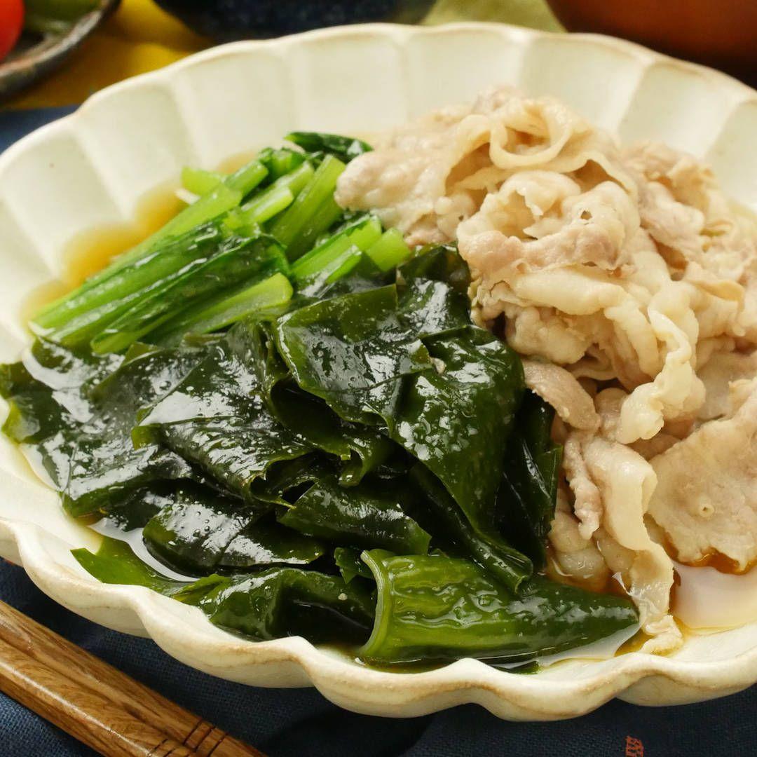ほっこりやさしい!豚バラ肉とわかめのサッと煮 - macaroni