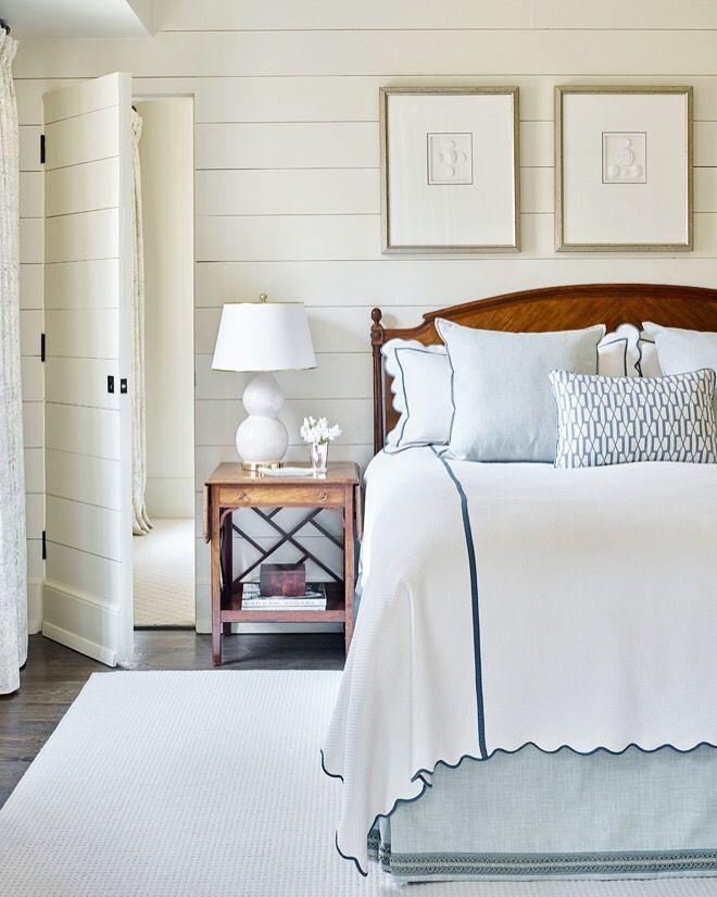 Class neutral bedroom with hidden door