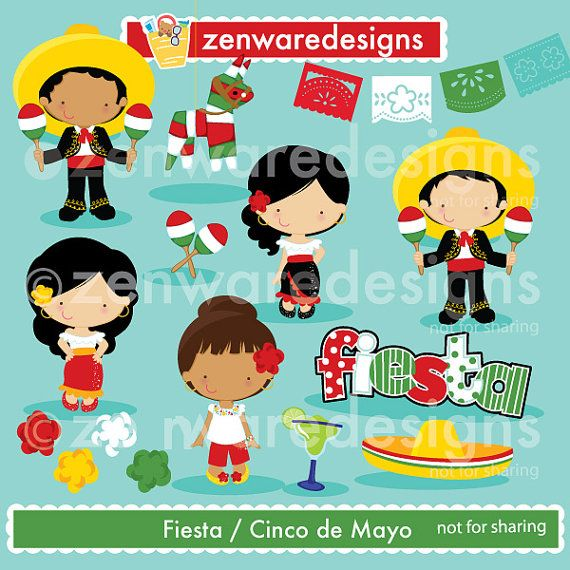 Cinco De Mayo Fiesta Clipart With Images Clip Art Cinco De