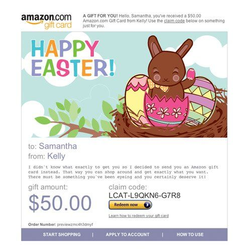 Amazon gift card e mail happy easter chocolate bunny easter amazon gift card e mail happy easter chocolate bunny negle Image collections