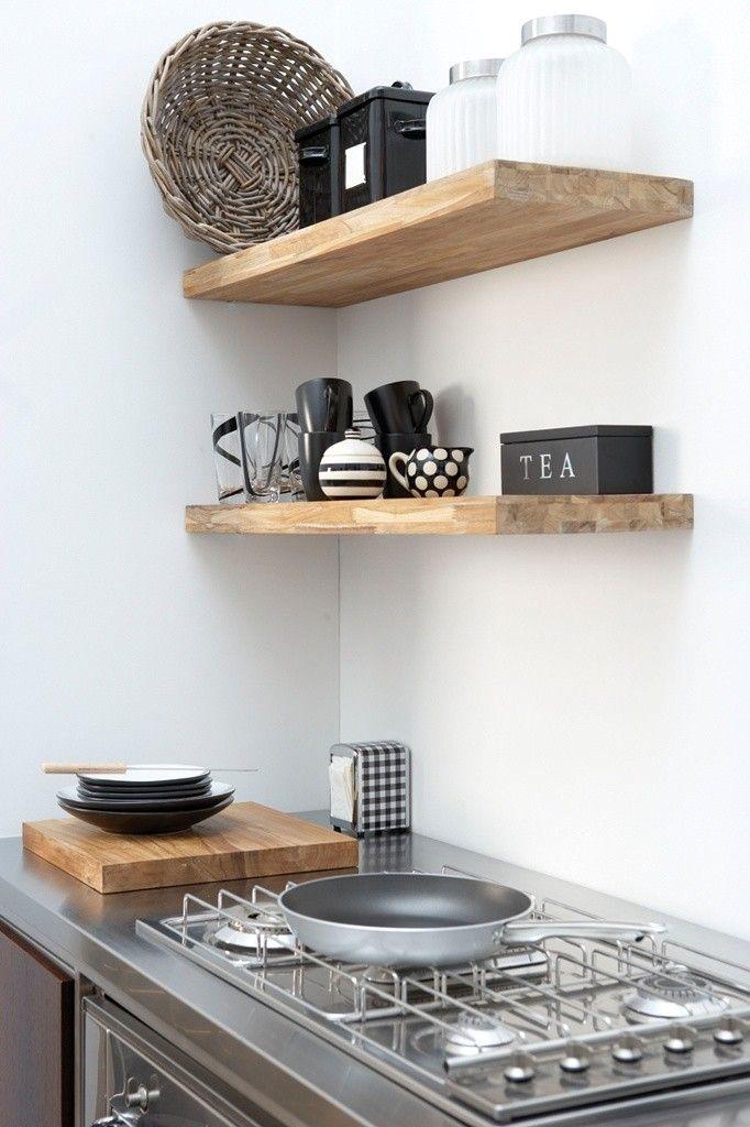 10 Favorites Rustic Open Shelving In The Kitchen Diy Prateleira