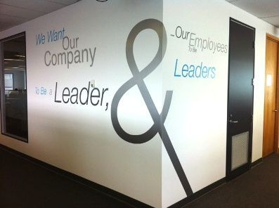 Office Emblazons Walls Graphic Values Google Mission Company Boardroom