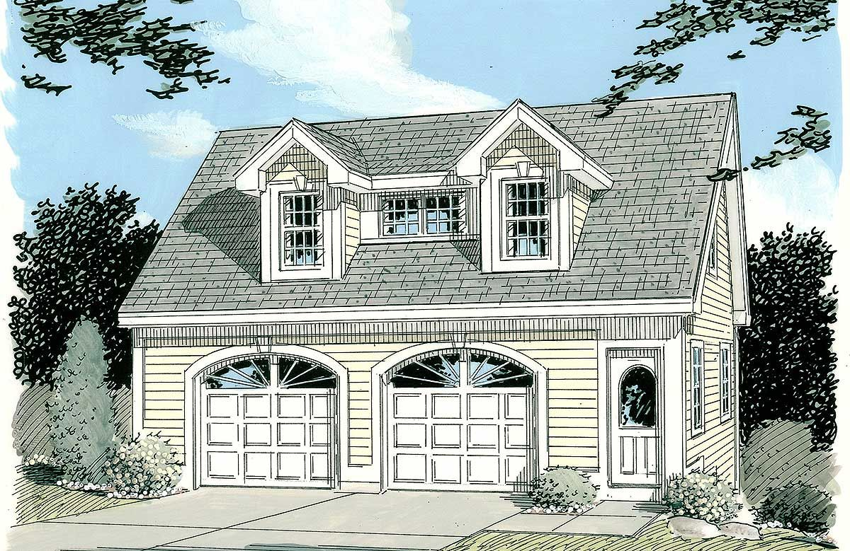 Simple Carriage House Plan 3792TM