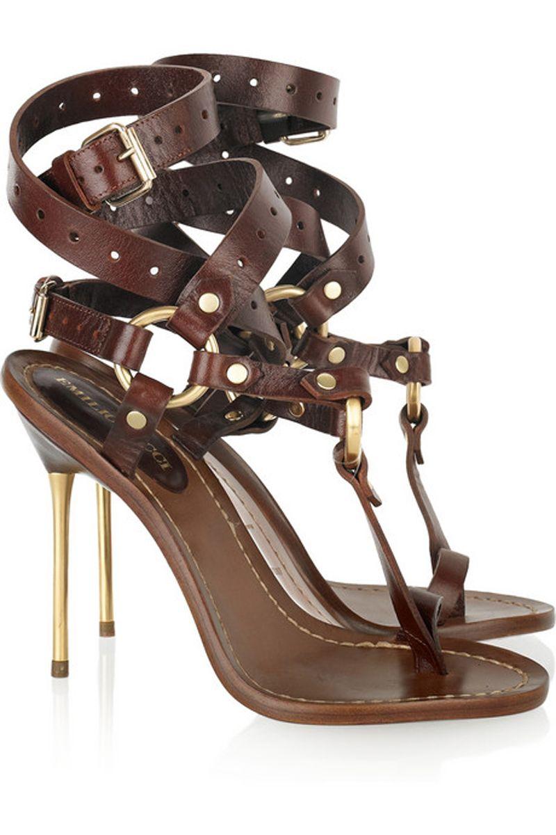Emilio Pucci Leather Sandals JcU6VbL6uf