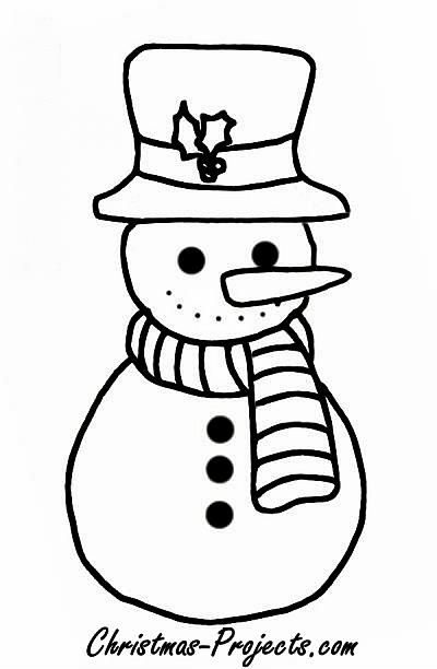 Simple Snowman Coloring Pages Use Your Right Mouse And Click On