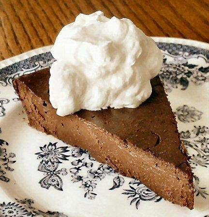 Chocolate truffle torte- chococlate, butter, eggs and sugar