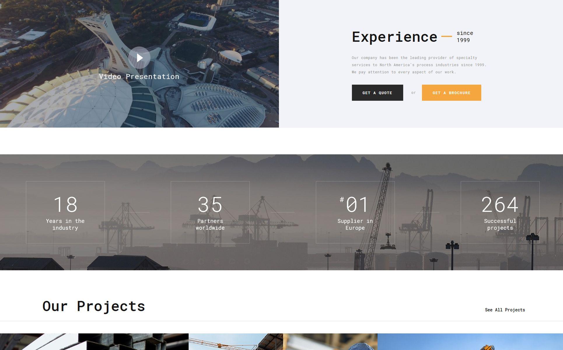spectrum construction multipage html website template 3d design rh pinterest com
