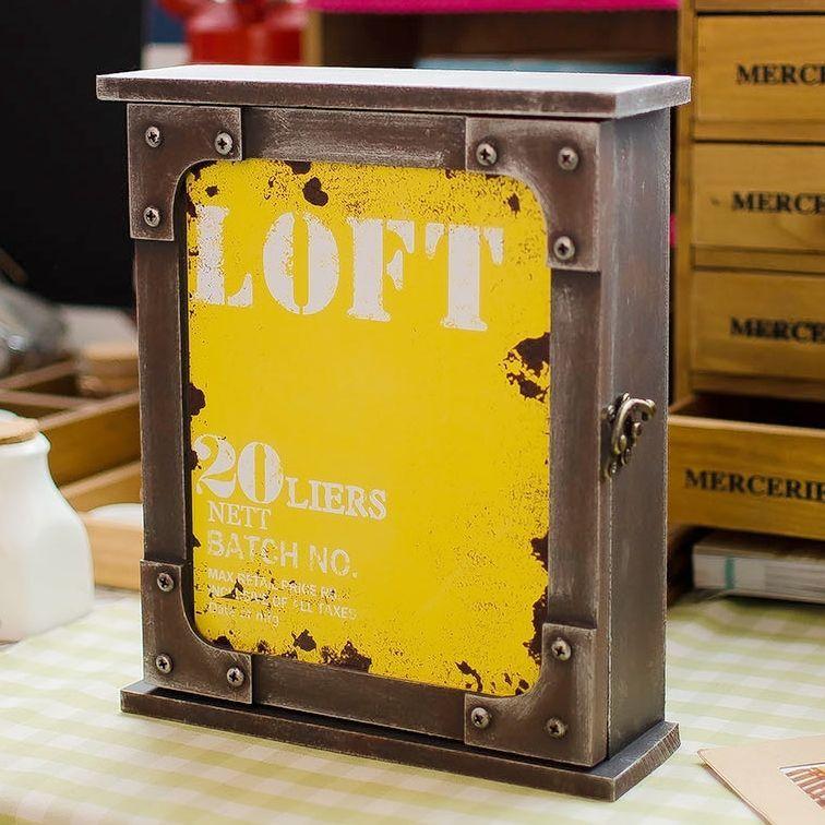 Decorative Vintage Art Decor Wood Key Shadow Box Keys Loft Metal ...